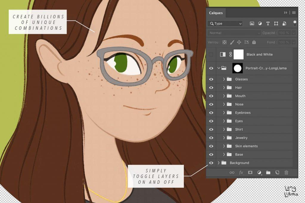 female portrait creator