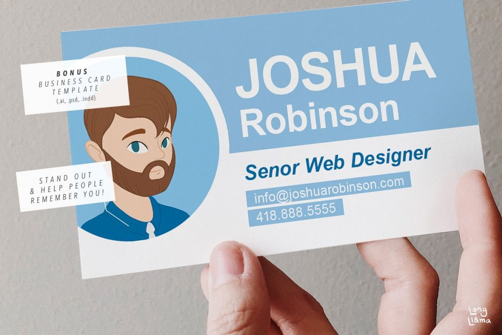 man portrait creator on business card