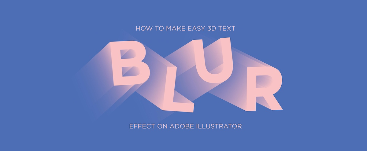 create 3D text effect in adobe illustrator
