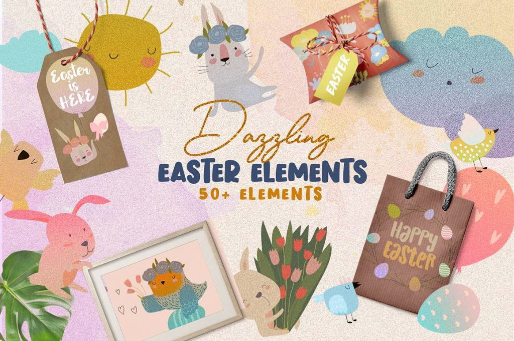 free easter clip art elements