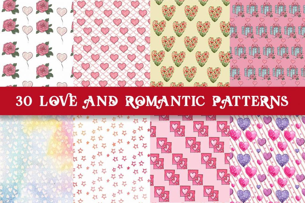 free valentine's day romantic patterns