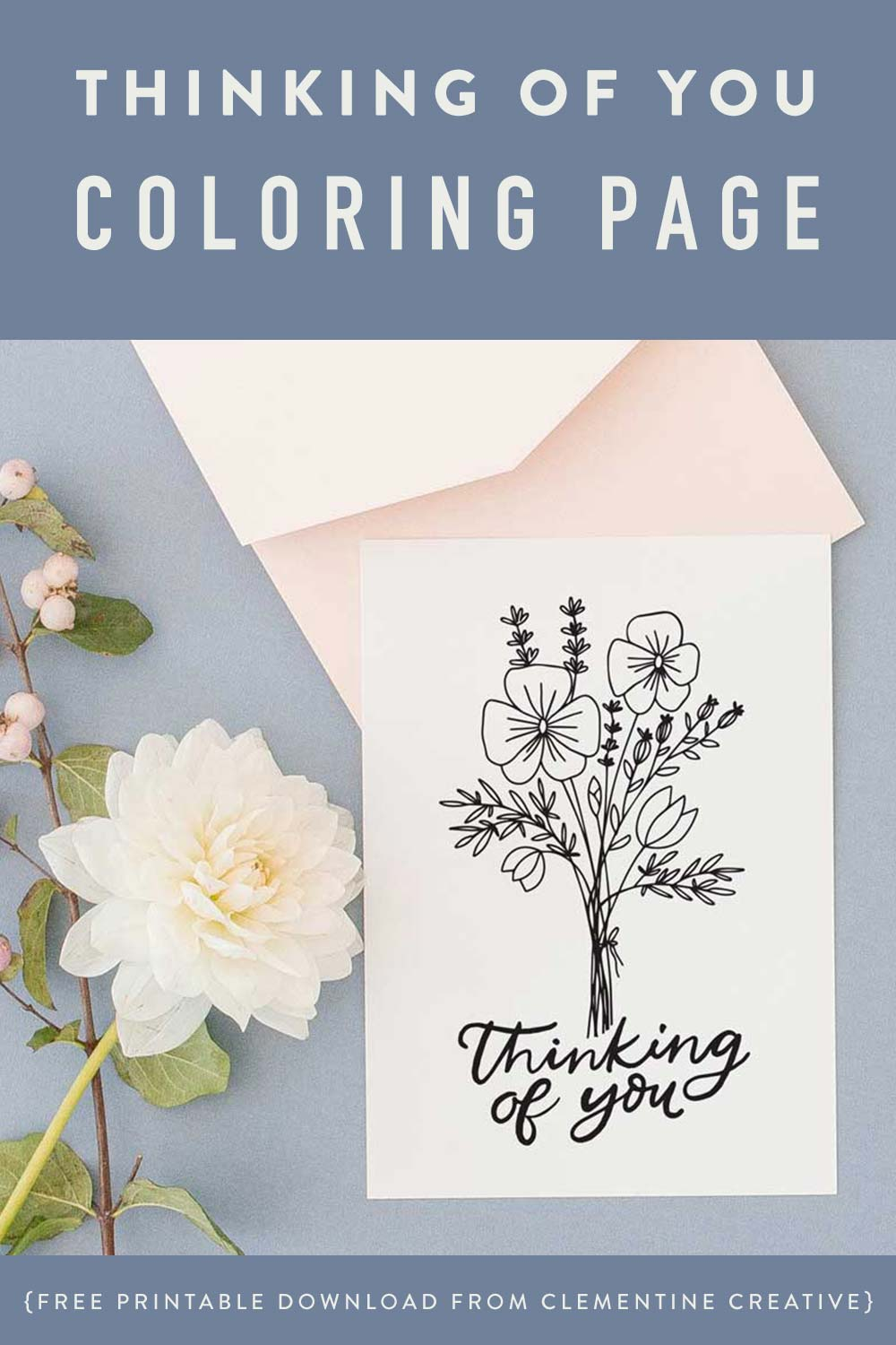 thinking of you colouring cards
