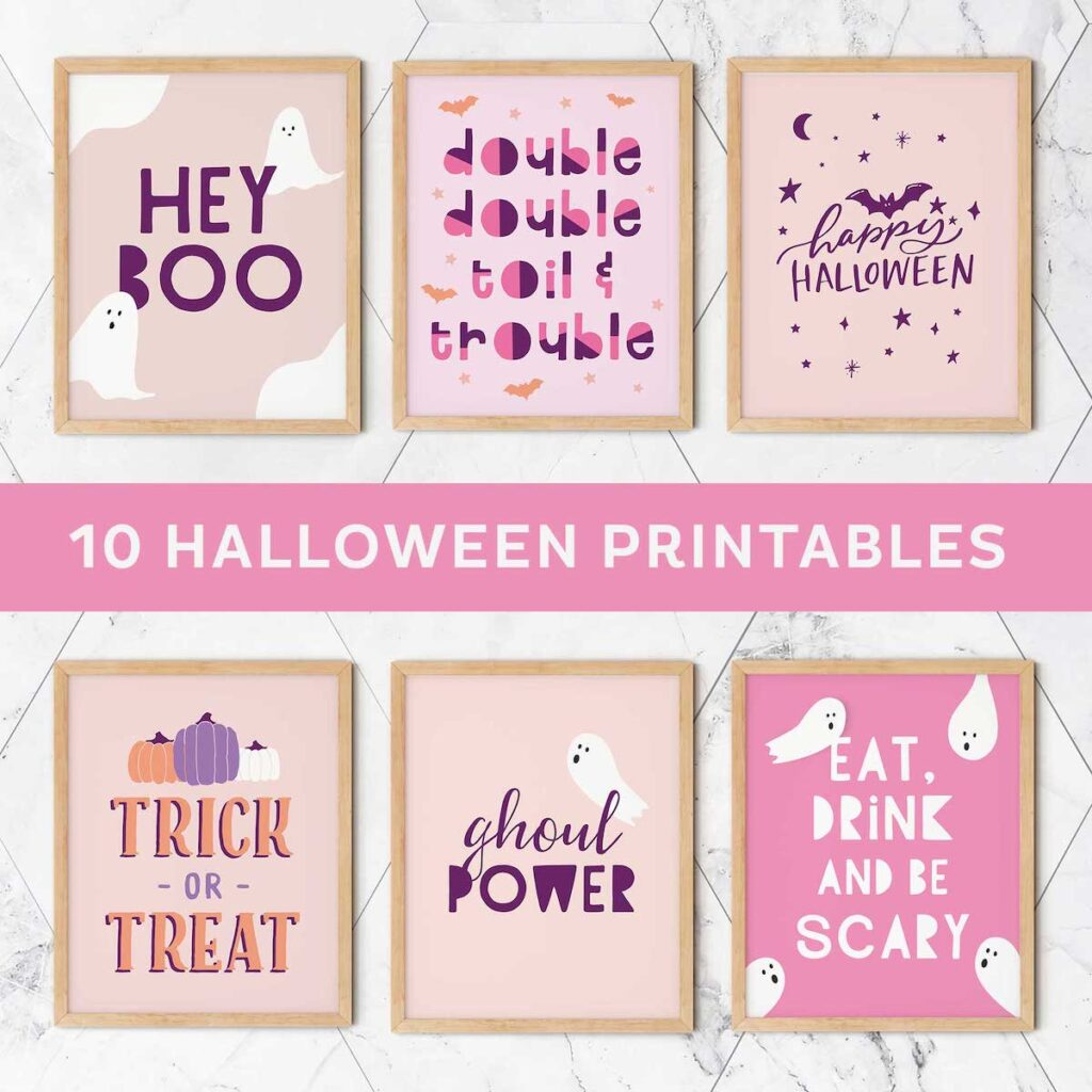 cute printable halloween wall art for kids