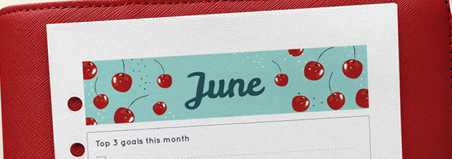 June 2017 Free Printable Monthly Planner