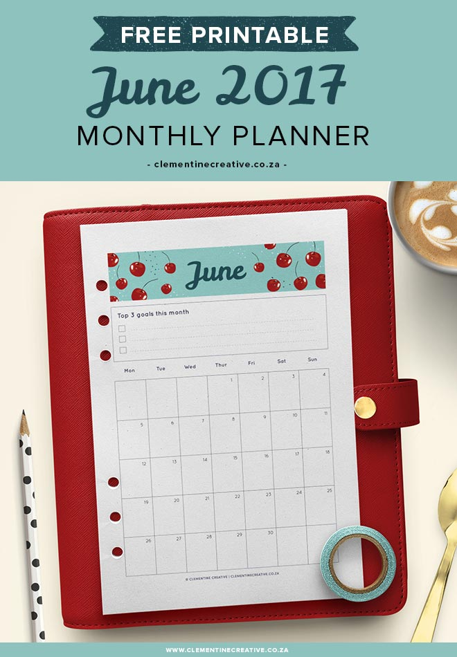 Get organised with this June 2017 monthly planner. It includes a calendar and a separate page to help you remember this month's tasks. Get it for free in your inbox every month!
